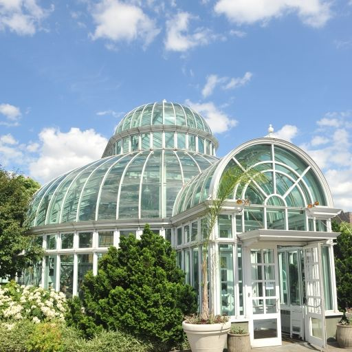 The Palm House : Glass Dome Conservatory In Brooklyn