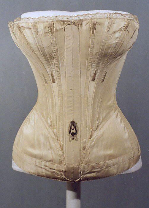 1839-41, Korsett aus Seide, Amerika oder Europa
