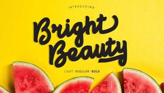 خطوط انجليزية تحميل الخط الرائع Bright Beauty المميز للشعارات والتصميمات التجارية والدعايه والاعلان In 2020 Clean Script Fonts Free Font Creative Fonts