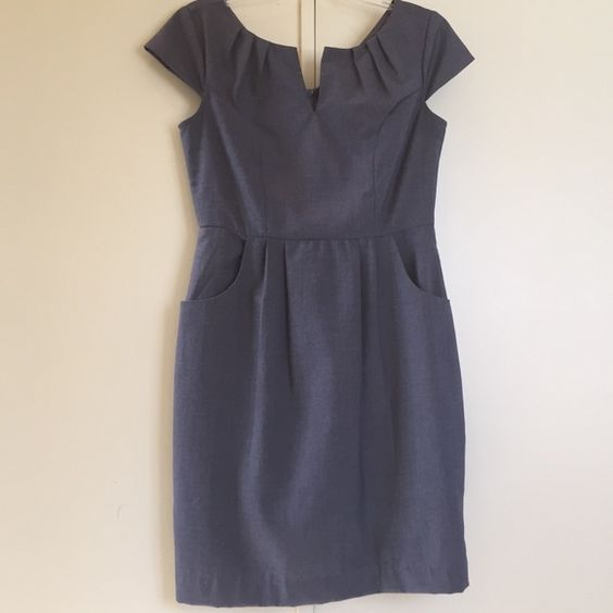 Grey Contemporary Business Short Sleeved Dress Brand new without tags!!! Perfect dress for work or a job interview! Can be dressed up even more with a belt, necklace, or blazer/jacket. This dress is a must have!!! Dresses
