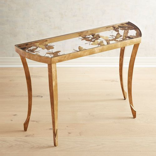 Golden Butterfly Console Table Console Table Dining Room