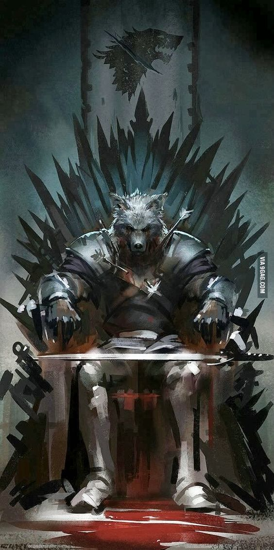 Game of thrones art king in the north and game of thrones for Iron throne painting