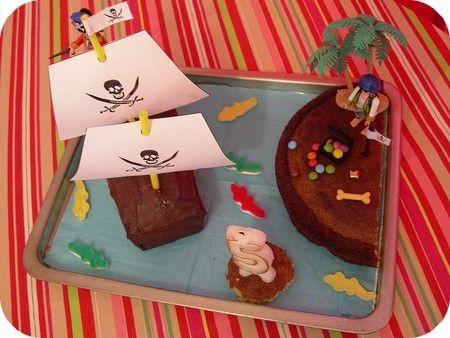 A l'abordage ! fête d'anniversaire, goûter, petits pirates et gâteau rigolo   Merci pour le chocolat !