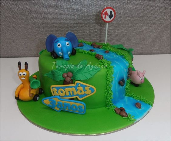 Jungle Junction Cake Bolo Selva sobre Rodas