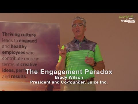 The Employee Engagement Paradox - Brady Wilson at Imagine Your Workplace Conference | Summary:  The more leaders try to manage their employees' engagement the more disengaged, exhausted and cynical people become. Why is this? Our research reveals that organizations have failed to integrate one critical element into their engagement strategies: the human brain. It is the control centre of how we think, feel, behave and perceive the world around us. Learn exactly...