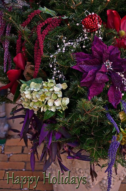 Happy Holidays!  #Christmas #decorations #floral #Christmastree #botanicals #driedflowers