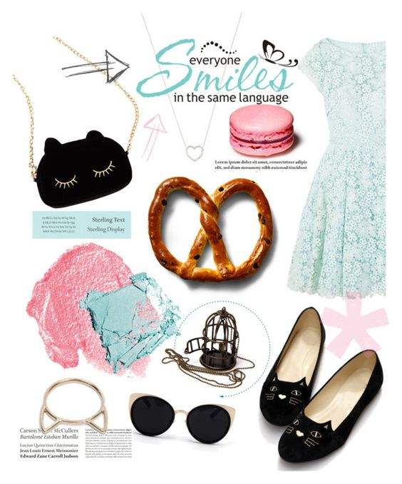 """When the cats away..."" by samanthasade ❤ liked on Polyvore featuring WithChic, Una-Home, ML Monique Lhuillier, NARS Cosmetics, Tiffany & Co., Catbird, loafers, cat and fashionset"