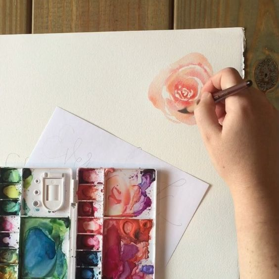 This Is A Real Time Video Of How I Paint A Rose In Watercolor