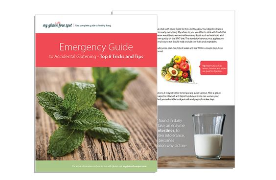 FREE Emergency Guide to Accidental Glutening! Click the link to get your copy today! #glutenfree