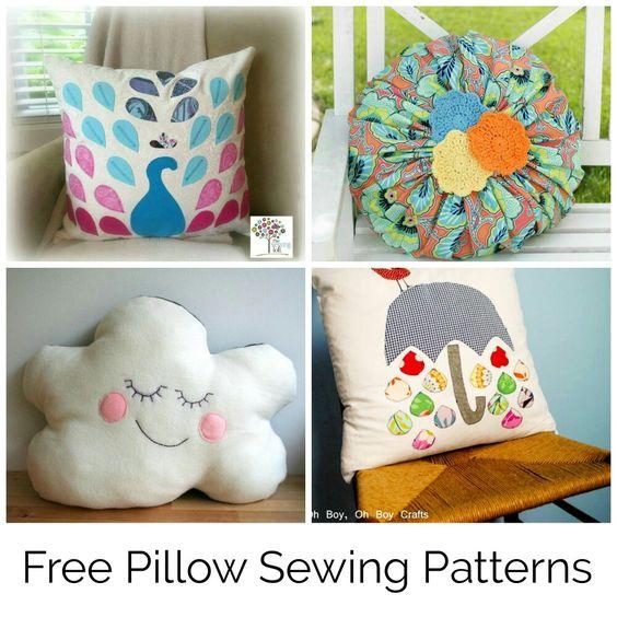 Free pillow sewing patterns | stitch, knit, crochet | Pinterest ...