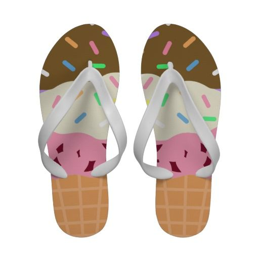 4d95b062f2b Triple Scoop Ice Cream Flip Flops