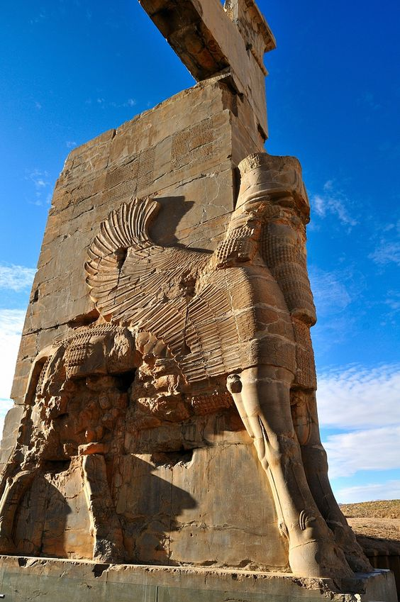 Gate of All Nations | Persepolis, Shiraz, Iran. MORE INFO: Darius the Great (522-486 BC)  built the Persepolis after re-establish 23 state in middle east and Xerxes (Darius's son) complete the complex 465 BC.
