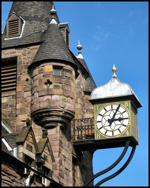 The Canongate Tolbooth, Tower, Edinburgh. Royal Mile Clock.