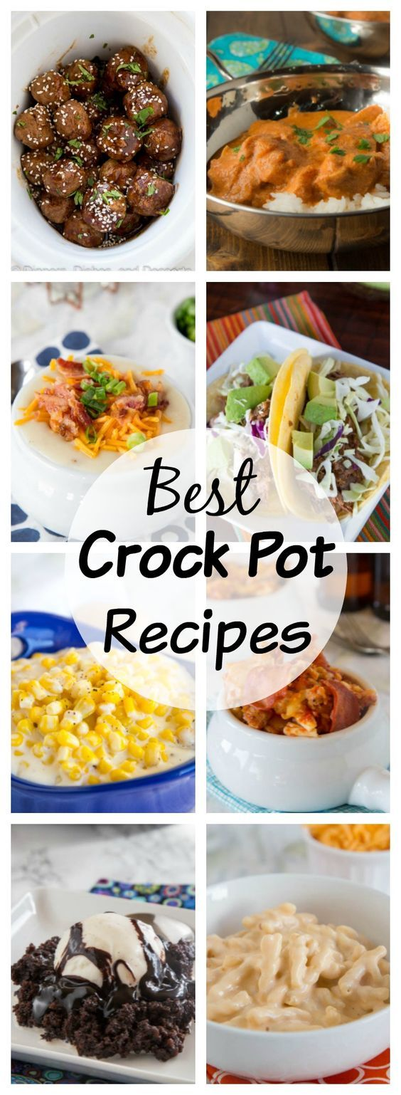 Crock Pot Recipes - Using your crock pot or slow cooker is so easy for busy days. Here is 20 crock pot recipes that will help get you through the w… | Pinterest