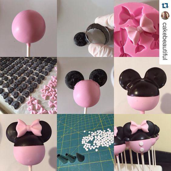 Minnie/Mickey cake pop tutorial