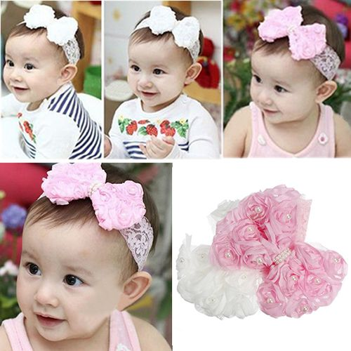 Toddler Baby Girls Kids Flower Headband Hair Band Headwear Accessories SO