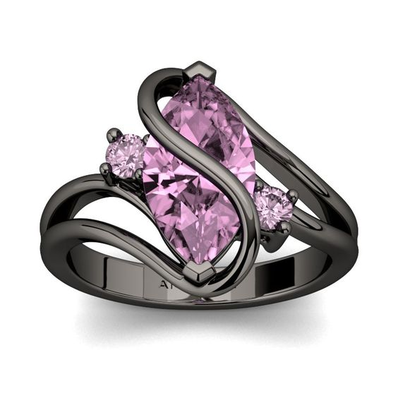 #Amarley Twist Love Sterling Silver 3.00 CT. Marquise Cut Pink CZ Cubic Zirconia Vintage Ring. Priced at $75.95 - Subject to change depending on the supplier. Was $165.