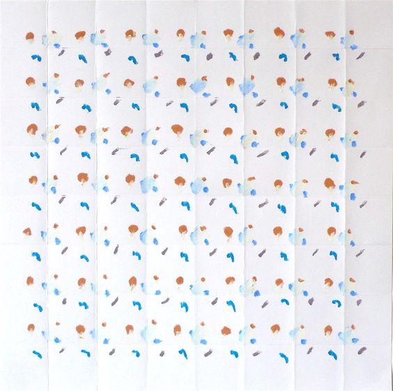 Robyn Graham, '07.48 PARIS', 2016, Oil Pastel on Paper, 50cm x 50cm - Robyn Graham