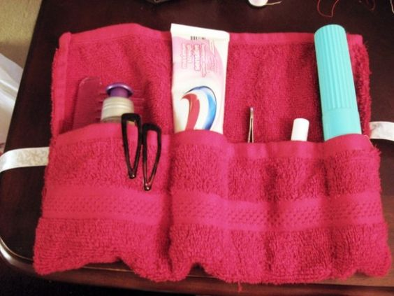 18 Useful DIY Traveling Projects - Toiletries Roll