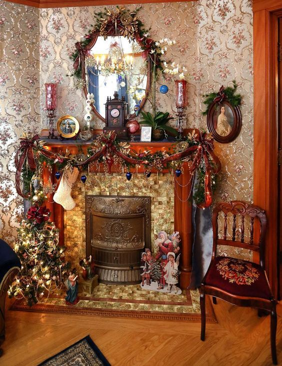 Create A Dickens Christmas Decor To Adore Christmas Decorations Uk Christmas Interiors Victorian Christmas Decorations