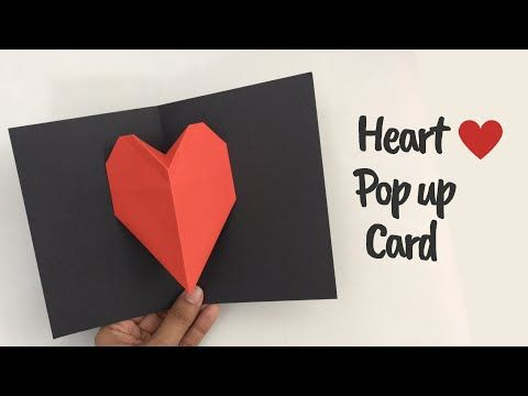 Handmade Love Greeting Cards For Valentines Day Easy Heart Popup Card Ideas For Valentines Day You Heart Pop Up Card Simple Cards Handmade Origami Cards