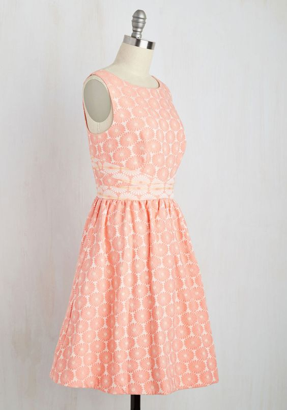 Vibrant Victory Dress. Perfectly melding your shining personality with this bright peach frock by Wendy Bird? #orange #prom #modcloth