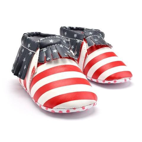 Baby Boys Girls Shoes Soft Sole PU Leather Cartoon Slippers Infant Toddler Prewalker Moccasins Crib First Walkers Shoes