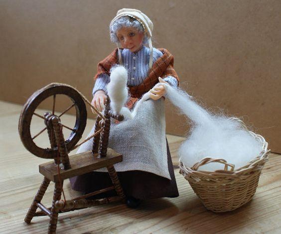 Grace die Spinnen-Dame 1: 12 1 Zoll Skala Ooak von JendlewickDolls