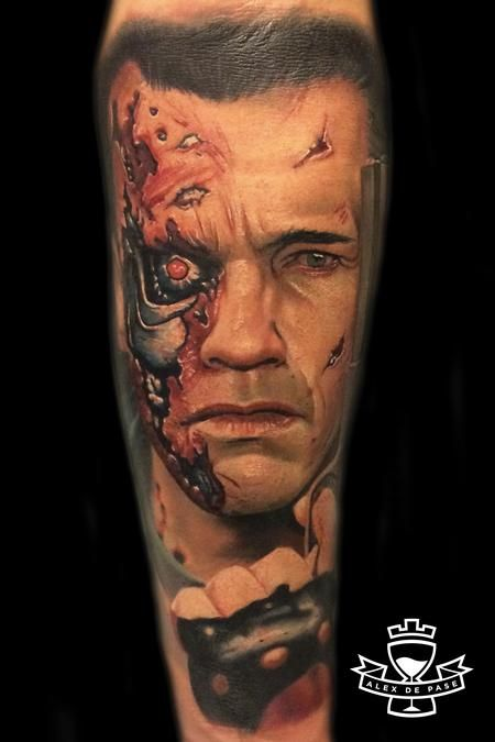 tattoos arnold schwarzenegger in terminator 99382 tattoo portraits pinterest arnold. Black Bedroom Furniture Sets. Home Design Ideas