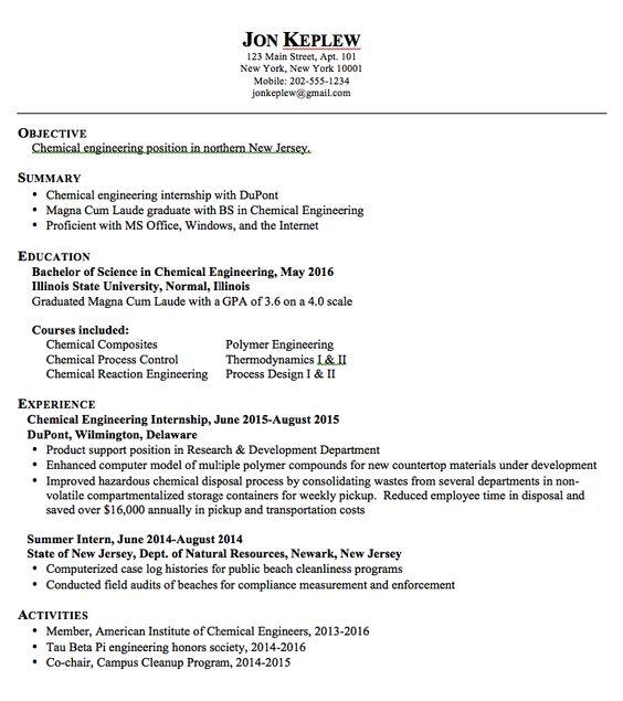 sample resume chemical engineering httpexampleresumecvorgsample resume - Polymer Engineer Sample Resume