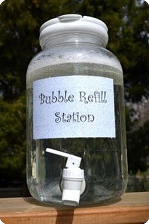 Bubble station for parties or just the backyard . . . . . Awesome!!