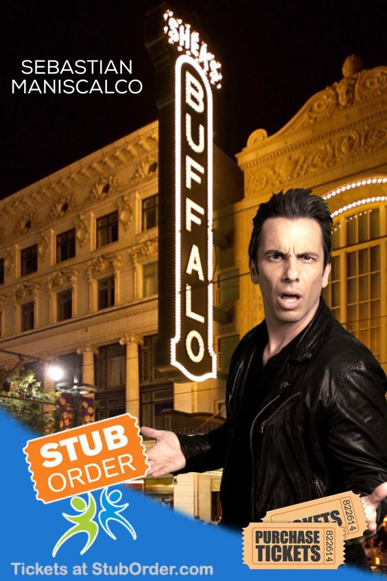 Sebastian Maniscalco tickets for #buffalo on sale on our website.  #sebastianmaniscalo