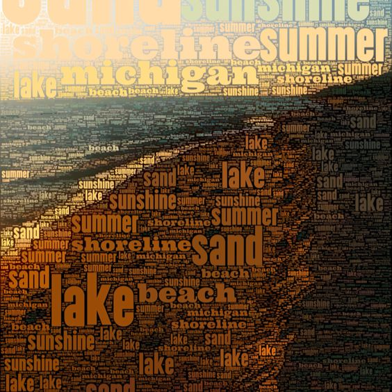 Michigan's summers are for being outside, at the beach, in the sun!!!   18in x 18in on canvas (gallery wrap):  95.00+ shipping.   Free shipping to  Michigan buyers.