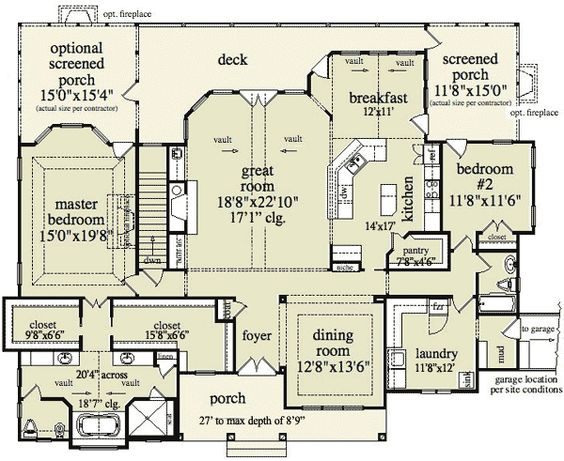 Plan 29826rl Mountain Home Plan With Garage And Bonus