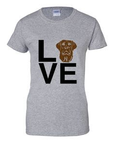 This Chocolate Lab Love tee is an A Dog's Love™ exclusive for chocolate Labrador retriever lovers who spell true love with a lab! Now you can show off your chocolate lab pride with our popular Lab Lov