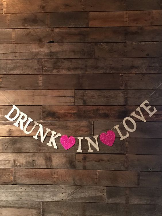 Drunk In Love Banner Bachelorette Party Wedding by luludesignsnc