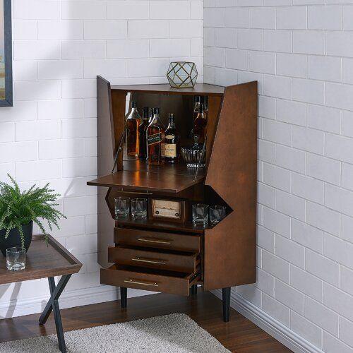 Hester Corner Bar Cabinet Bar Cabinet Corner Bar Cabinet