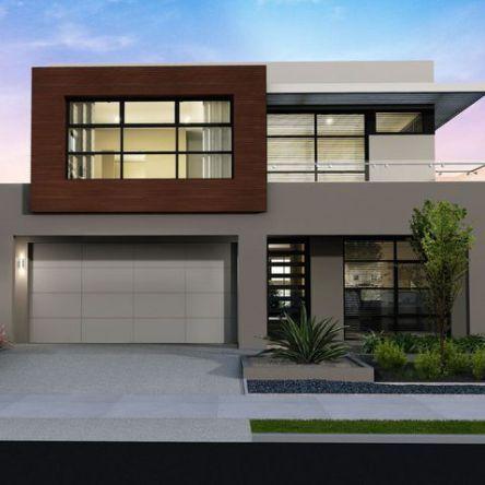 5 modelos de fachadas de casas modernas de dos pisos for Planos para casas de dos pisos modernas