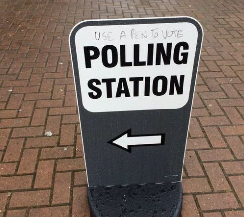 """With today's EU Referendum on a knife edge, those voting Leave have been urged to bring their own pens to polling stations to make sure the result isn't fixed. A handful of polling stations have already seen posters defaced with warnings to """"use a pen to vote"""". Electoral rules do not specifically state"""