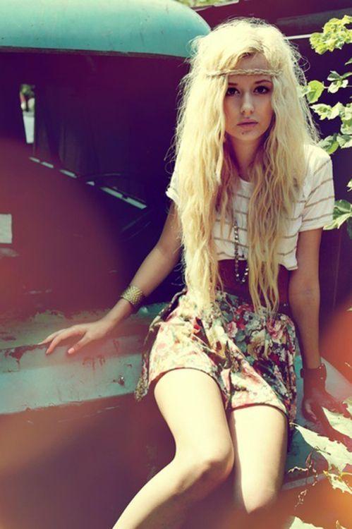 long-blonde hair