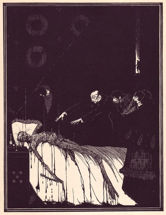 As series of illustrations by Irish illustrator Harry Clarke to accompany Poe's tales of terror!