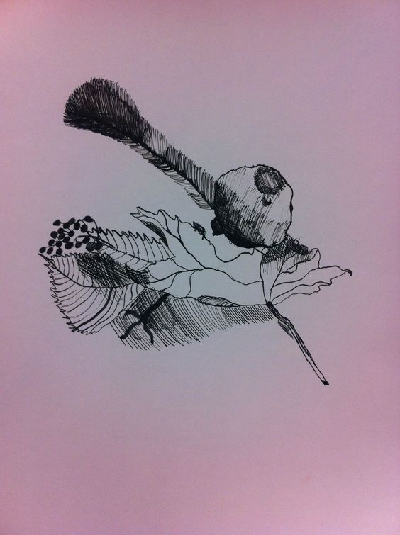 Depris drawing with ink - 17th September