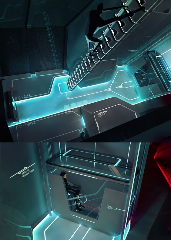 Futuristisches Haus Interieur – eine Loft Wohnung in LA ...