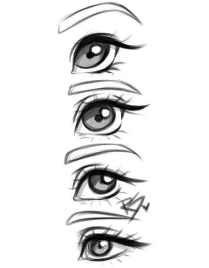 This Is More Anime Eyes But I Like The Study Of Expressions Eye Drawing Drawing Tips Manga Eyes