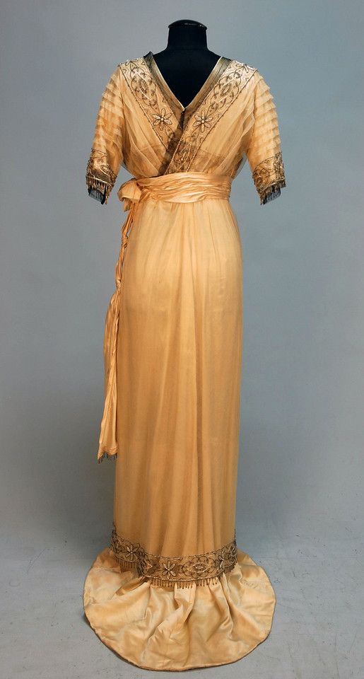Silk and Beaded Net Gown, c. 1911