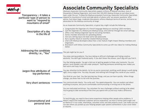 Job Descriptions For Meetup  Cool Job Descriptions