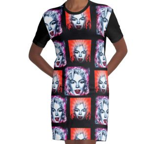 Graphic T-Shirt Dress #iconic #dancer #singer #actress #marilyn #famous #president #sexy #happybirthday