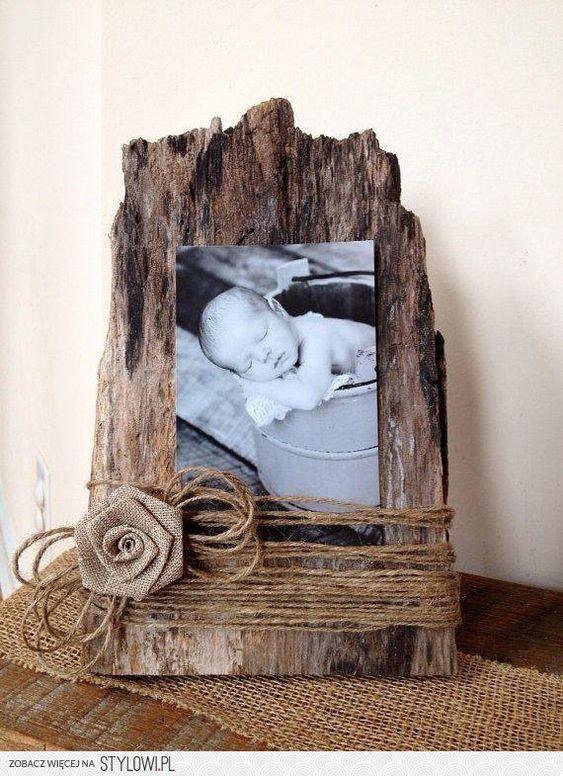 Interesting twist on baby pic frames.