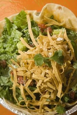 Cafe Rio Salad with Shredding Sweet Pork.