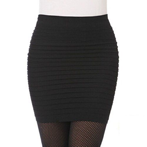 awesome   ABC(TM) Womens Elastic Pleated High Waist Package Hip Short Skirt (Black) #fashion #beauty #lifestyle #vintage #beverage #vintagedress #hair #nails